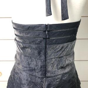Cache Dresses - Cache metallic blue dress